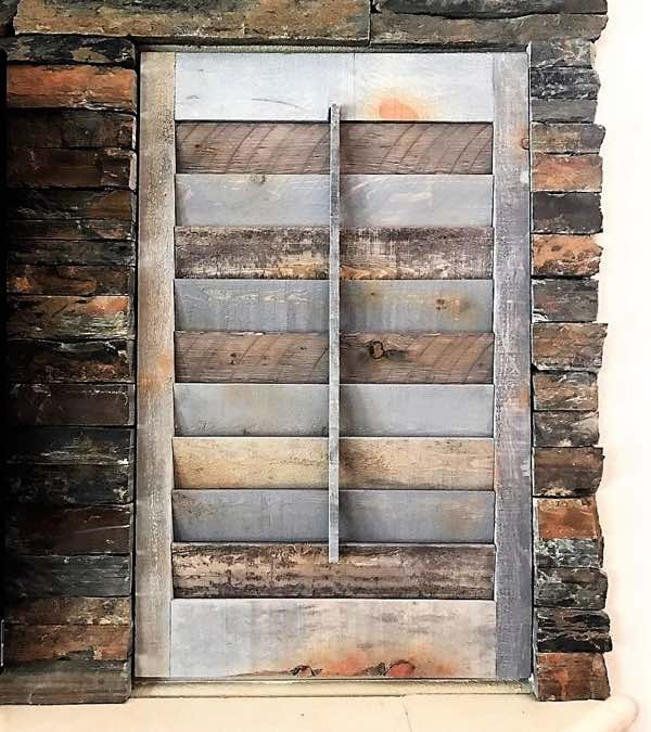 New York City reclaimed wood shutter