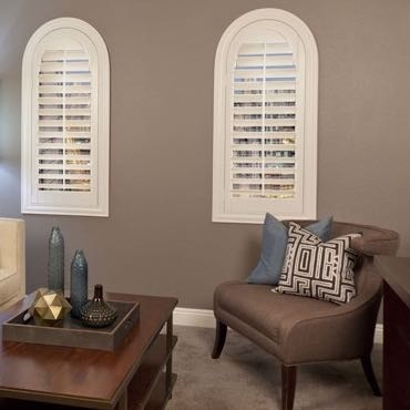 New York City family room plantation shutters.