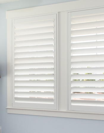 Polywood shutters with hidden tilt rods in New York City