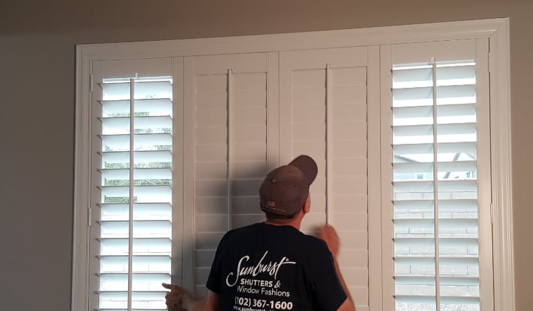 Installation of plantation shutters in New York City