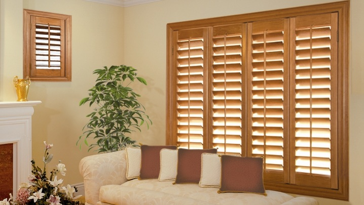 wood shutters New York City living room