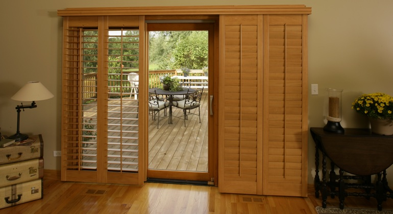 Hartford wood shutter sliding door