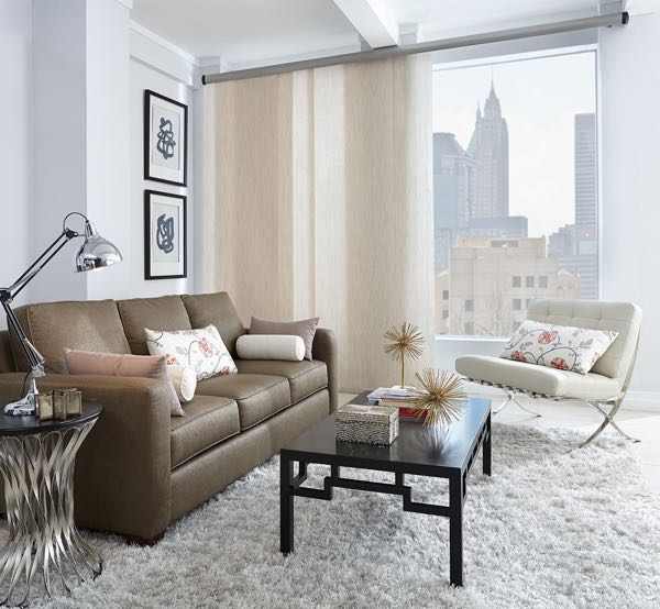 New York City panel track blinds
