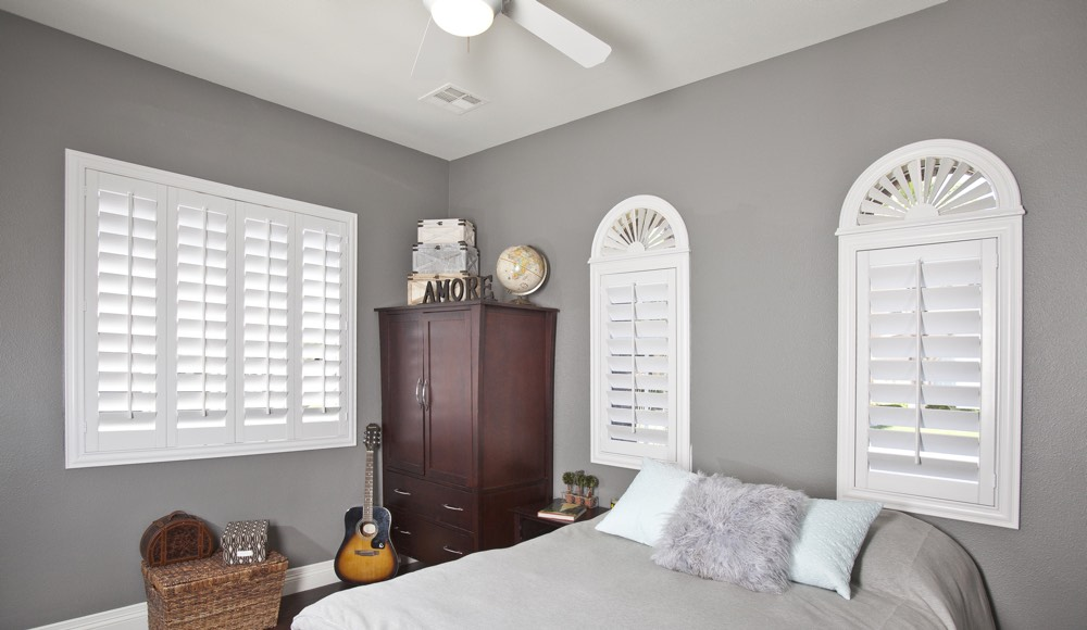 Polywood Shutters In A New York City Bedroom