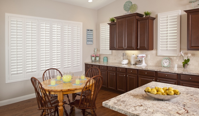 Polywood Shutters in New York City kitchen