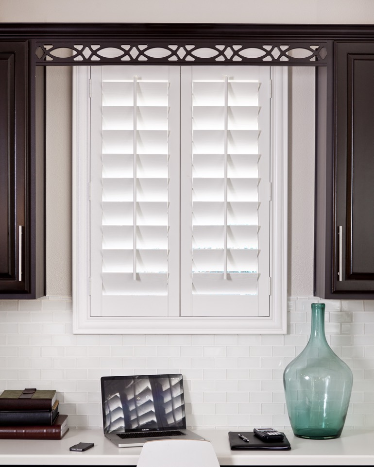 Shutters in kitchen