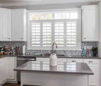 Shutters in New York City kitchen