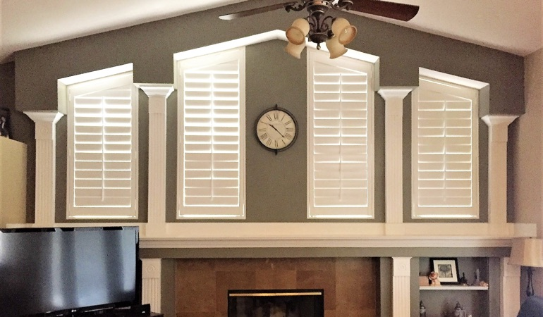 Polywood Shutters in Family Room in New York City