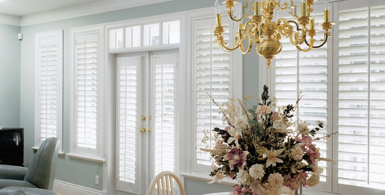 New York City sunroom polywood shutters