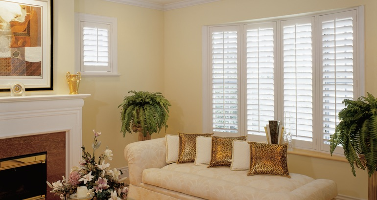 New York City living room shutters