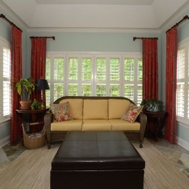 New York City sunroom polywood shutters.