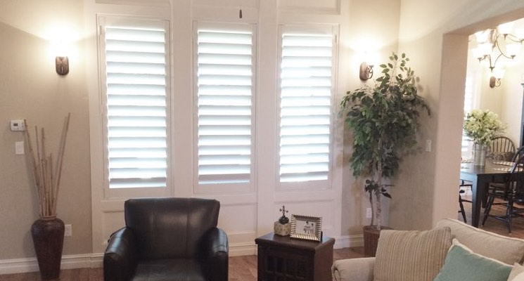 New York City parlor white shutters