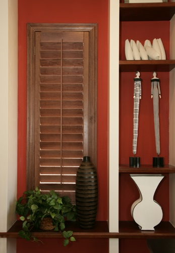 Hartford wood shutter shelving