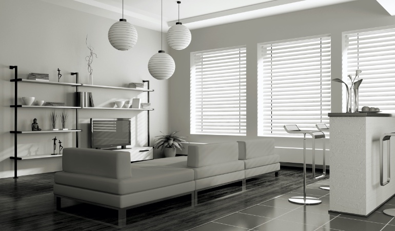 white blinds in New York City