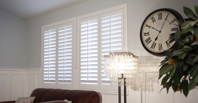 New York City living room indoor shutters
