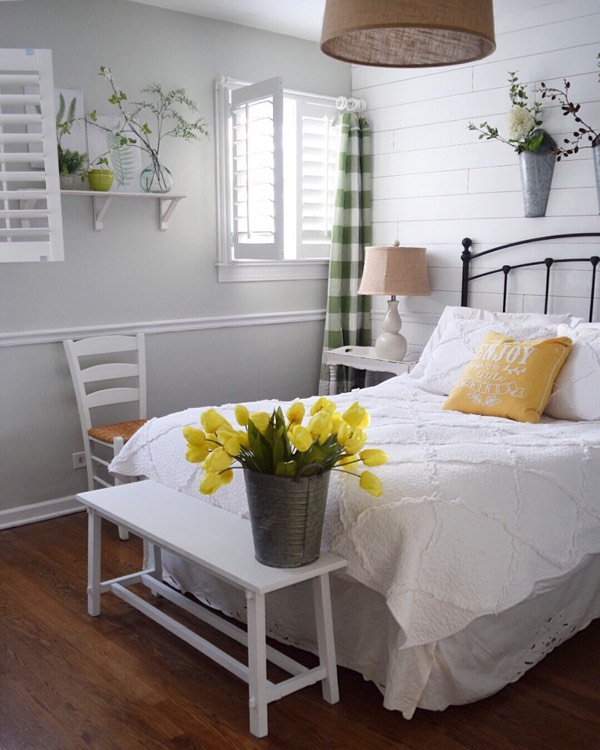 New York City cottage bedroom shutters