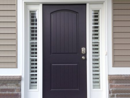 New York City front door shutters